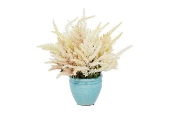 "17"" Artificial Astilbe Bouquet In Ceramic Vase"