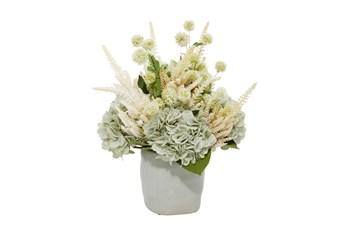 """17"""" Artificial Floral Arrangement In Ceramic Vase"""