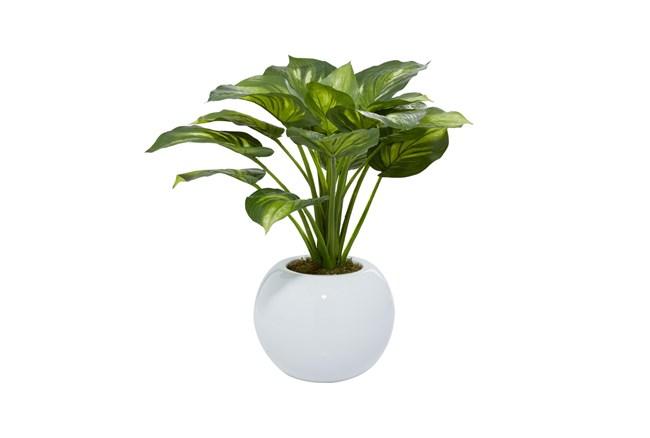 "23"" Artificial Eva Hosta Plant In White Pot - 360"