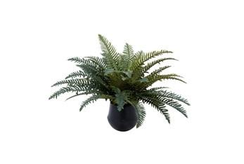 """16"""" Artificial Ferns In Ceramic Pot"""