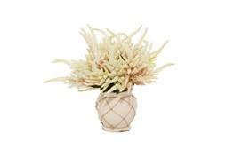 "20"" Artificial White & Pink Astilbe In Ceramic Pot"