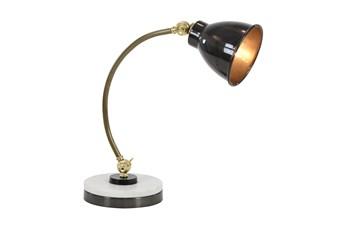 """20"""" Black Metal Task Desk Lamp"""