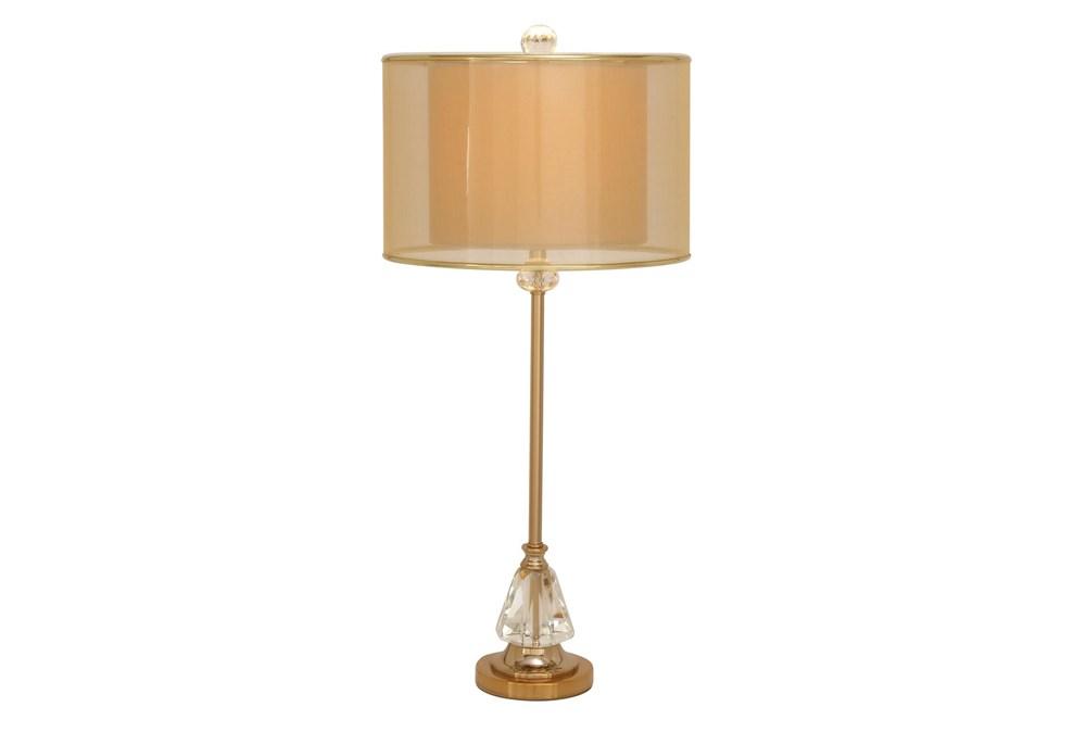 """29"""" Copper Metal Buffet Lamp"""