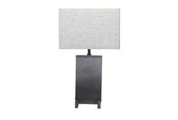 """26"""" Grey Rectangle Table Lamp"""