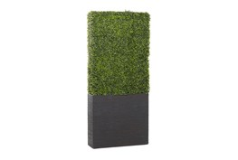 29X66 Green Artificial Boxwood Hedge