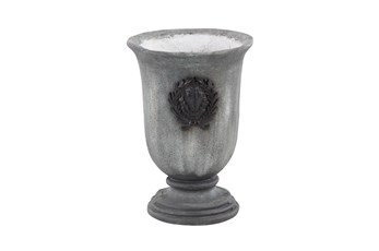 16 Inch Grey Resin Planter