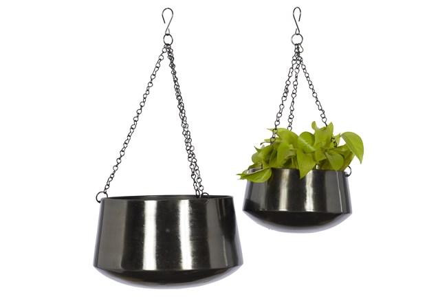 Black Iron Planter Set Of 2 - 360