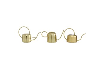 Gold Iron Watering Can Set Of 3