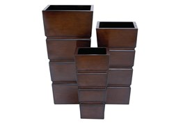 Brown Iron Planter Set Of 3