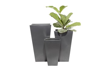 Black Iron Planter Set Of 3