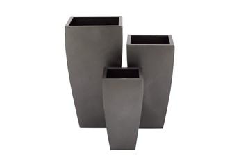 Grey Iron Planter Set Of 3
