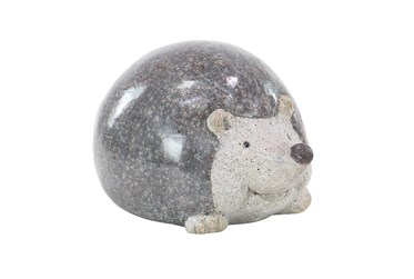 8 Inch Grey Polystone Hedgehog Garden Sculpture