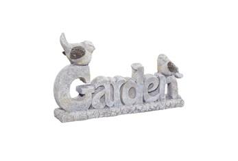 15 Inch White Polystone Garden Sculpture