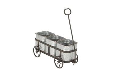 16 Inch Silver Iron Planter