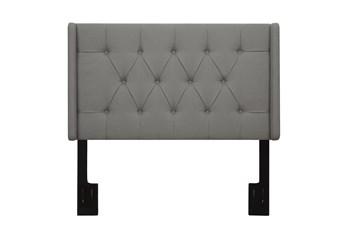 Full/Queen Ash Button Diamond Tufted Upholstered Shelter Headboard