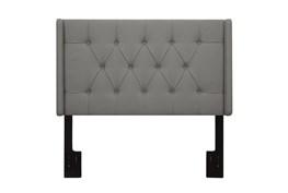 Eastern King/Cal King Ash Button Diamond Tufted Upholstered Shelter Headboard