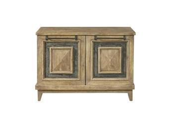 Stone Inset 2 Door Cabinet