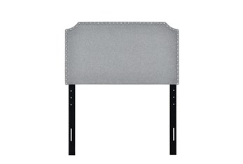 Twin Stone Clipped Corner Upholstered Headboard