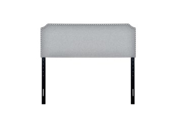 Queen Stone Clipped Corner Upholstered Headboard