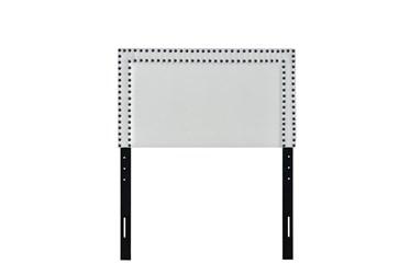 Twin Cream Double Row Nail Trim Upholstered Headboard