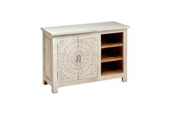 Carved Lace Media Chest