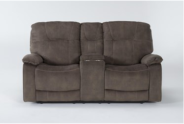 """Dax Brown 76"""" Manual Console Loveseat"""