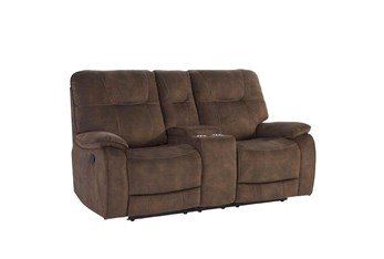 Dax Brown Manual Console Loveseat
