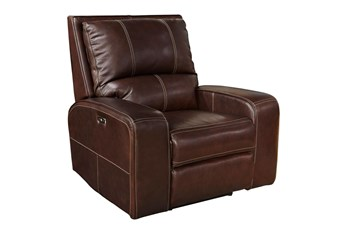 Briggs Clydesdale Leather Power Recliner With Power Headrest & Usb