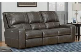 Briggs Twilight Leather Power Reclining Sofa With Power Headrest & Usb