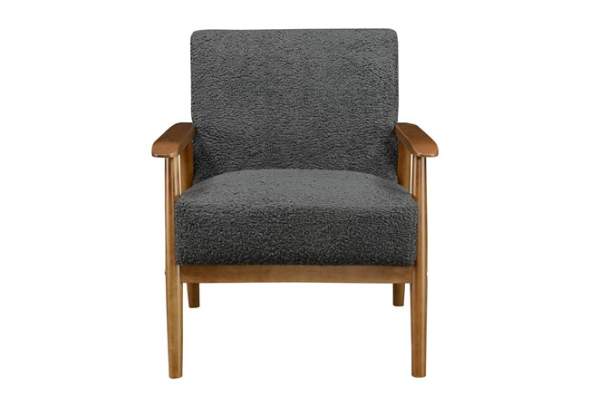 Miriam Charcoal Accent Chair - 360