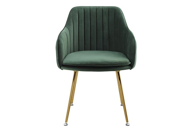 Nancy Emerald Velvet Accent Chair - 360