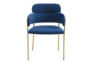 Maxine Sapphire Velvet Accent Chair