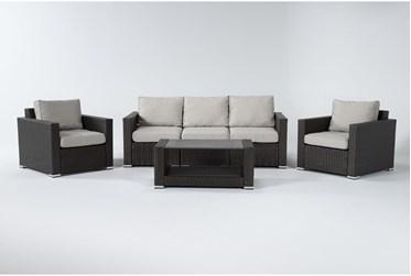 Lombok Outdoor 4 Piece Lounge Set