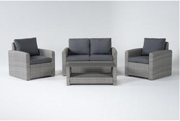 Zanzibar Grey Outdoor 4 Piece Lounge Set