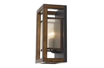 Evans 8X14 Wood And Metal Wall Lamp