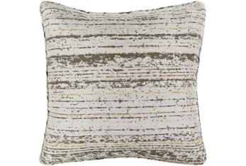 Outdoor Accent Pillow-Mustard Camel Stripe 20X20