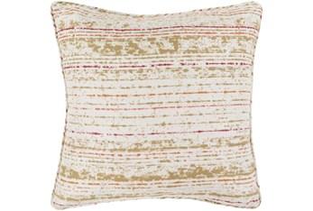 Outdoor Accent Pillow-Orange Coral Stripe 16X16