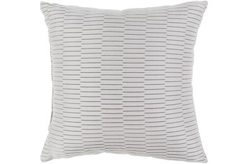 Outdoor Accent Pillow-Light Grey Pleated 16X16