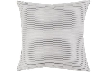 Outdoor Accent Pillow-Light Grey Pleated 16X16 - Main