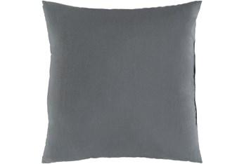 Outdoor Accent Pillow-Medium Grey Solid 20X20