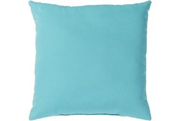 Outdoor Accent Pillow-Aqua Solid 20X20