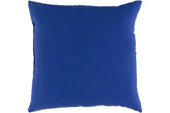 Outdoor Accent Pillow-Dark Blue Solid 16X16