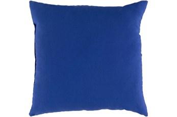 Outdoor Accent Pillow-Dark Blue Solid 20X20