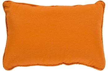 Outdoor Accent Pillow-Bright Orange Solid 19X13