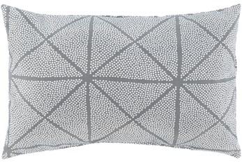 Outdoor Accent Pillow-Medium Grey Geometric 16X16