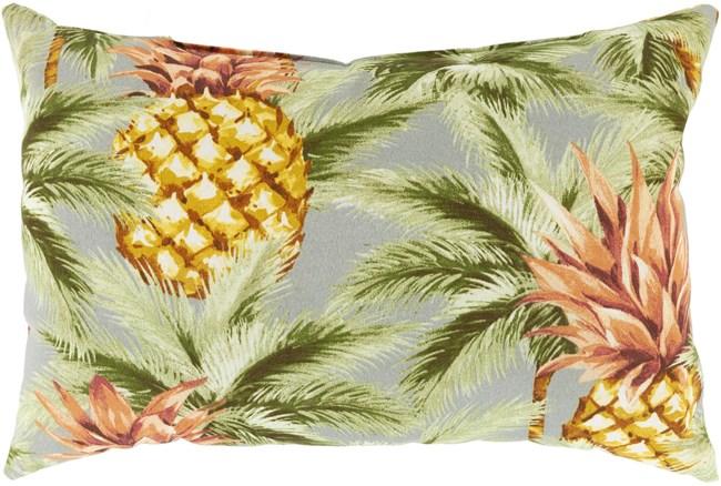 Outdoor Accent Pillow-Light Grey Pineapple 20X13 - 360