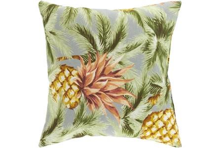 Outdoor Accent Pillow-Light Grey Pineapple 16X16 - Main