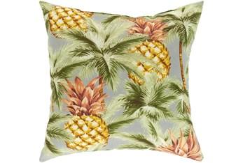 Outdoor Accent Pillow-Light Grey Pineapple 20X20