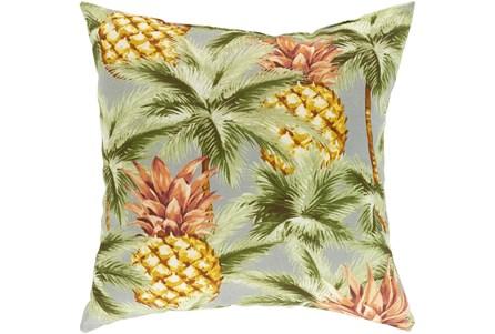 Outdoor Accent Pillow-Light Grey Pineapple 20X20 - Main