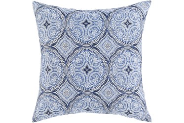Outdoor Accent Pillow-Blue Medallions 16X16